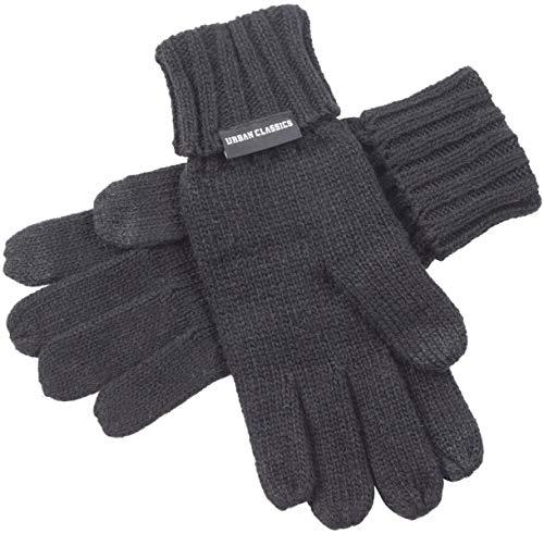 Urban Classics Herren Knit Gloves Handschuhe, Schwarz (Black 00007), one size