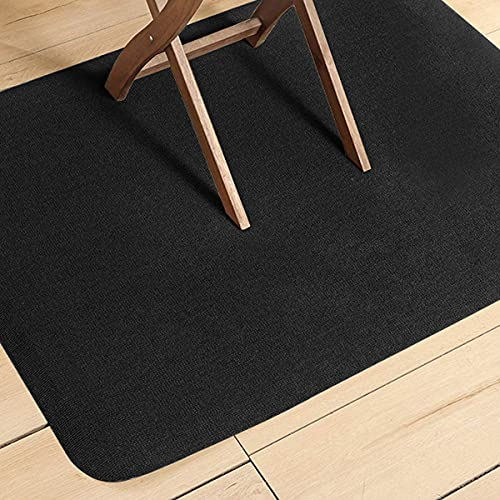 Alfombrilla protectora de suelo duro para silla de ruedas, antideslizante, reducción de ruido, no para alfombra (59 x 44 cm), color negro