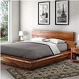 Zara Rebersburg Solid Wood Platform Bed Frame (Sheesham, Queen)