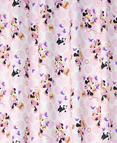 NOVUM fix Gardine Vorhang Disney`s Mini-Maus mit Kindermotiv Blickdicht, Druck auf 100% Reine Baumwolle, rosa (140x175cm)