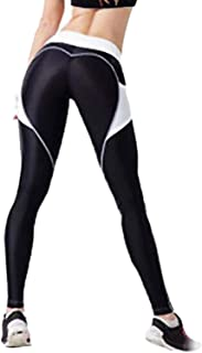 Women's Heart High Waist Yoga Pants Pattern Gym Workout Fitness Leggings