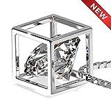 Luxray Collar Mujer Plata de Ley 925 Joyas para Mujer, Regalos Originales, Colgantes Mujer, Regalos para Mujer, Collar diamante, Cadena 45cm+5cm