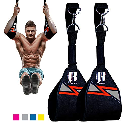 Hanging Ab Straps for Pull up Bar- Ideal Hanging Straps for Abs - Premium Pull up Bar Straps and Hanging Arm Straps for Abs - Best Elbow Hanging Straps and Gym Hanging Straps for Hanging Leg Raises