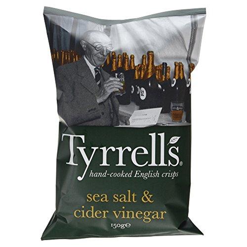 Tyrrells Handcooked Crisps Sea Salt & Cider Vinegar, (1 x 150 g)