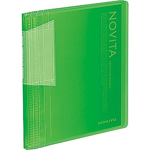 コクヨ ファイル ポストカードホルダー ノビータ A6 60枚 緑 ハセ-N60LG