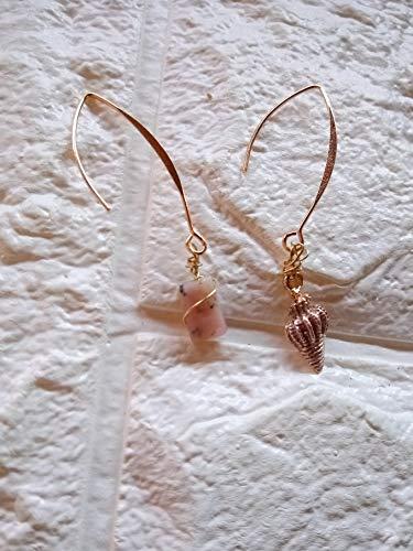 Opalo Rosa y oro 14k