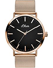 s.Oliver Damen Analog Quarz Armbanduhr mit Edelstahlarmband