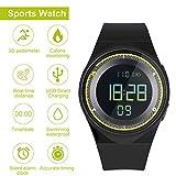 RCruning-EU Schrittzähler Fitness Armband Wasserdicht IP68...