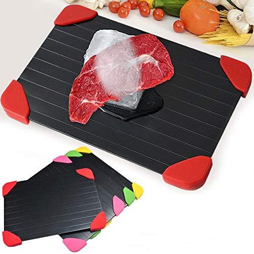 Bandeja de carne de descongelación rápida de seguridad 2 en 1 Tabla de cortar Bandeja de descongelación rápida Placa de descongelaciónrápidaAlimentos congelados Carne Utensilios de cocina