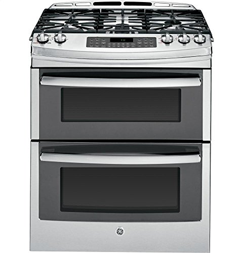 GE PGS950SEFSS Profile 30' Stainless Steel Gas Slide-In Sealed Burner Double Oven Range - Convection