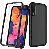 Galaxy A50 Case, Takfox [Yacht] Phone Case for Samsung Galaxy A50 A505U with Screen Protector [Military Grade Protection] Reinforced Bumper & Clear PC Back Heavy Duty Shockproof Rugged Cover-Black