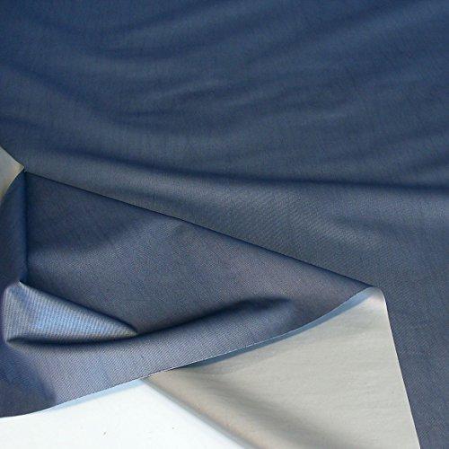 TOLKO Sonnenschutz Verdunkelungsstoff Meterware | 100% Lichtdicht, Thermo-Beschichtung | als Fensterfolie, Verdunkelungsvorhang/Gardine, Verdunklungsrollo (Dunkelblau)