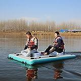 Plataforma flotante de pesca inflable, barco de plataforma de pesca de agua, posición de pesca móvil para entusiastas de la pesca, válvula de aire...