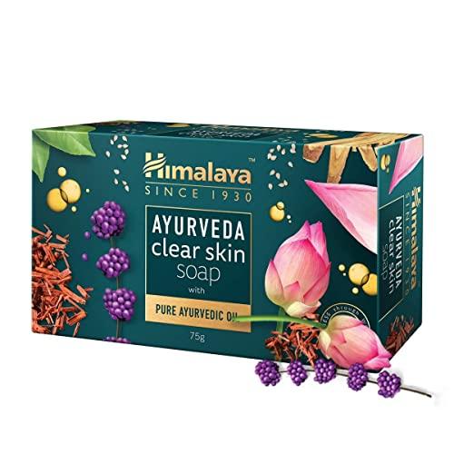 Himalaya Ayurveda Clear Skin Soap, 75 g (Pack of 6)