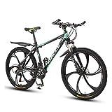 WGXY Bicicletta, Mountain Bike, Pneumatico ultragrandangolare, Bici da 26 Pollici 21/24/27 velocità, Bici da Corsa per Uomo e Donna, Bici da MTB con Ruota da 6,Verde,26 inch 21 Speed