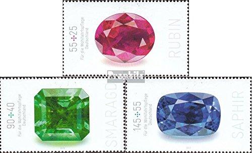 Prophila Collection RFA (RFA.Alemania) 2901-2903 (Completa.edición.) 2012 Piedras Preciosas (Sellos para los coleccionistas) Minerales / joyería
