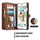 GR Portefeuille en Cuir pour Apple iPhone 6S / 6 4,7 Pouces (Color : Coffe)