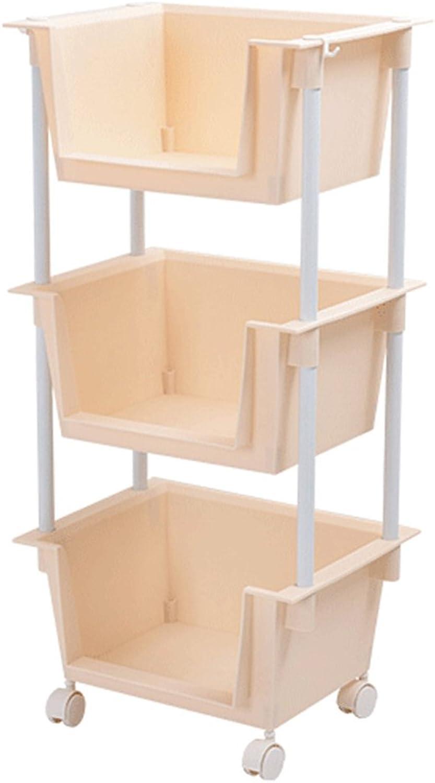 ZZHF yushizhiwujia Storage Racks Floor-Standing Multi-Storey Kitchen Shelf Plastic Fruit and Vegetable Toy Storage Basket (color   Nordic Meters)