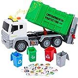 Tacobear Camion Basura de Juguete Grande Camión Basura Juguete con Basura y Luces y Sonidos Función Vehiculos Camion Juguete Regalo para Niños 3 4 5 6 7 8 años