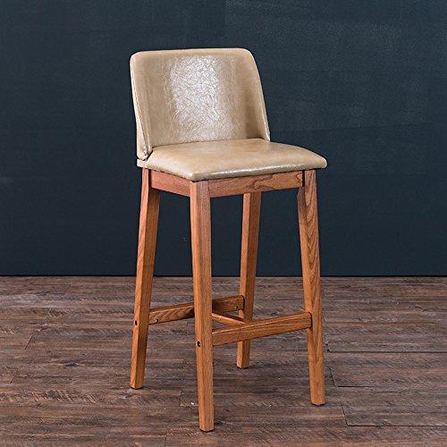 ZHANGRONG- Chaises de bar Bois massif Le dossier peut être plié Une variété de couleurs en option -Tabouret de canapé (Couleur : Beige, taille : 1001)