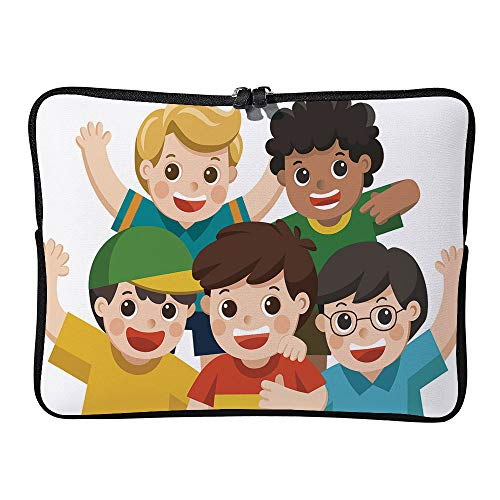 AmaUncle Boy Group Best Happy Smiling, Hugging and Waving Their Hands Cushion Protective Waterproof Laptop Case Bag Sleeve for Laptop SW30596 11.6 inch/12 inch