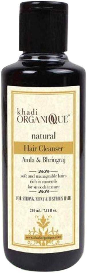 Glamorous Hub Khadi Organique Amla & Bhringraj Hair Cleanser 210 ml (el embalaje puede variar)