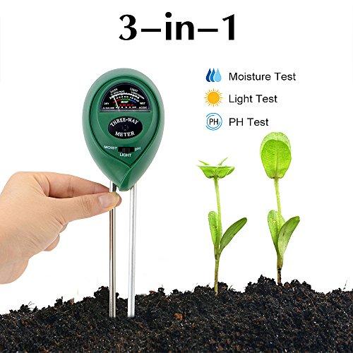Abafia Soil Tester Kit, 3 en 1 testeur...