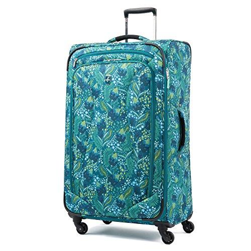 Atlantic Luggage Atlantic Ultra Lite Softsides 29' Expandable Spinner, lulu green, Checked Large