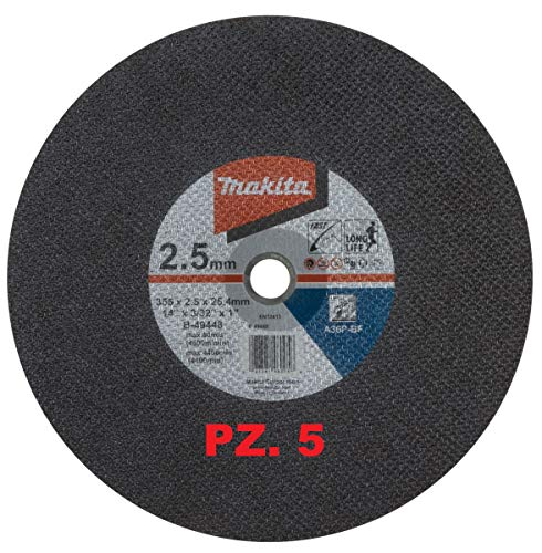 DISCHI PER TRONCATRICE 355 X 2,5 mm FORO 25,4 mm 5 PEZZI MAKITA B-49448-5