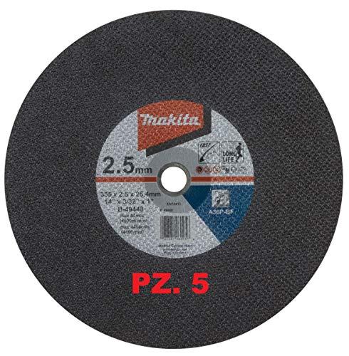 DISCHI PER TRONCATRICE 355 X 2,5 mm FORO 25,4 mm 5 PEZZI...
