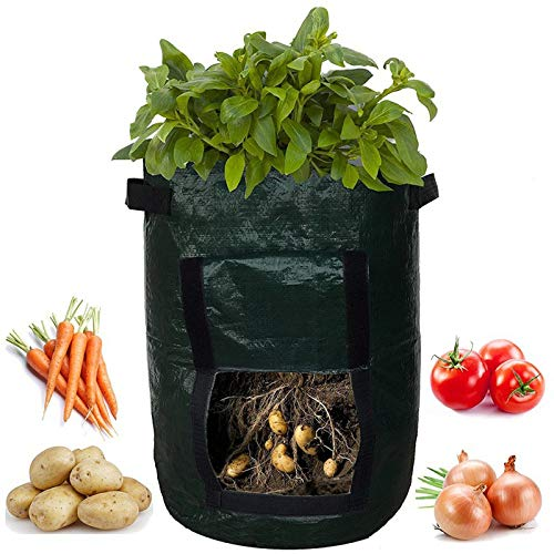 Best Bargain Zaluan Potato Cultivation moisturizing Bag with Side Windows Fill with Soil or Compost ...