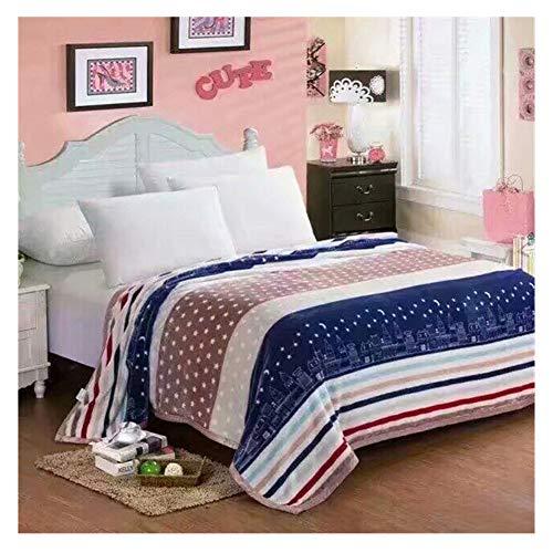 GELing Decke Flauschige Kuscheldecke/Wohndecke, Super weiche Fleece Sofadecke/Überwurfdecke, extrem warm mit doppelt genäht zweiseitige Decke,Farbe 9,150X200cm
