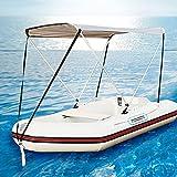 Richolyn Toldo para Barcos Resistente A Los Rayos UV Capota Barco Impermeable Embarcación De Recreo Adecuado para Bote Inflable, Velero, Bote De Goma, Kayak