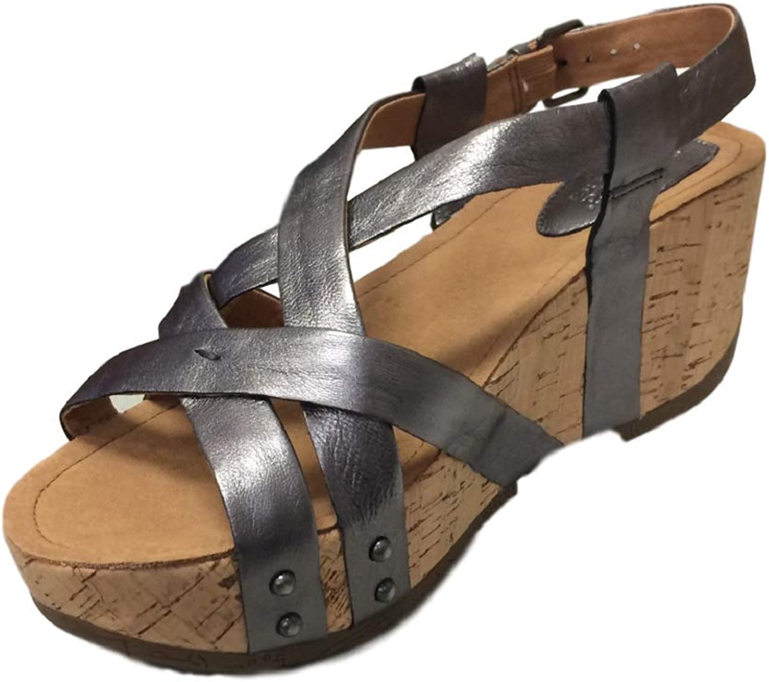 Bussola Bussola Bussola kvinnor Sandals Formäntera Cross Straps Wedge, Fabia Buckle skor, Soft and Stable for Walking  märken online billig försäljning