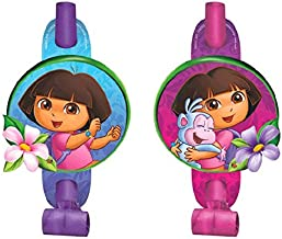 Amscan 335512 Blowouts Dora's Flower Adventure Collection 8 pcs Party Accessory
