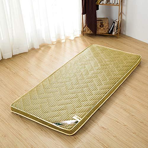 MM-CDZ 4D Atmungsaktive Schlafenden Tatami Bodenmatte,gesteppter Traditionellen Japanischen Futon Matratzentopper,Falten Dick Bett Topper Pillow-top Pillow-top Matratze Auflage-Kamel Voll
