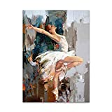 Pinturas Oleo,Bailarina De Ballet Contemporánea, Textura De Figura, Pinturas Al Óleo Grandes Verticales, Arte Moderno, Abstracto, Lienzo, Arte De Pared, Pinturas, Sala De Estar, Dormitorio, Decora