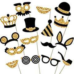 LET THE PHOTO FUN BEGIN: Are you looking for a way to add some fun to your photos? With PixiPy gold glitter photo booth props you can capture the spirit of the party and those moments of laughter, smiles, and memories that will make your special day ...