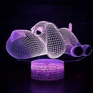 CRRQQ トピック・デル・ケーンCONグランディocchi LED 7 CAMBIA Coloreタッチ気分Lampadaレガロジ・ナターレnotturna Lampada 3Dルーチェ