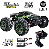Altair 1:10 Large Scale RC Truck with 30 Minutes Continuous Battery Life - 48+ km/hr High-Speed Remote Control Car - 4x4 All-Weather Off-Road RC Monster Truck