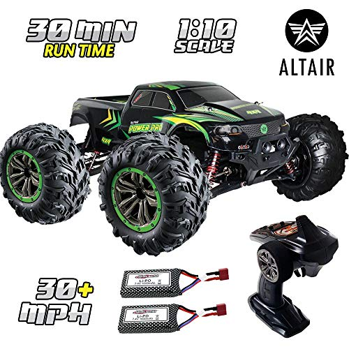 1:10 Scale Large RC Truck with 2 Batteries - Kids Remote Control Car...