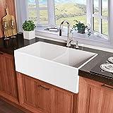 Miseno MNO3320BFC Inferno 33' Double Basin Farmhouse Fireclay Kitchen...