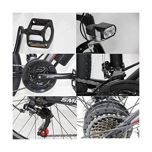 "514Lqw pjdL. SS600  - Elektro-Off-Road-Mountainbike, 350W Motor 26"" Adult Electric Mountain Bike 48Av10ah 350W Motor Höchstgeschwindigkeit 35km / H"