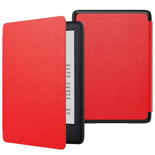 MoKo Hulle fur Kindle 10Generation 2019 Release Die dunnste und leichteste Schutzhulle Smart Cover mit Auto SleepWake Rot