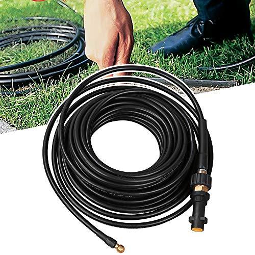 vingo Manguera para Limpiar tuberías 15 m, 180 Bar, 60 °C, Incluye Adaptador, Adecuado para limpiadores de Alta presión Kärcher