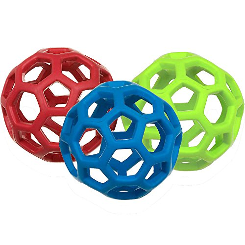 jw Pet Holee Roller Ball Hund Leckerli Fetch Bouncy Spielzeug, Medium 12,7cm Bundle 3