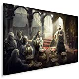 Muralo Cuadro en lienzo 30 x 20 milagros de Kana en Galiläa Jesús, decoración de lienzo para dormitorio o sala de estar, diseño XXL, 30 x 20 cm