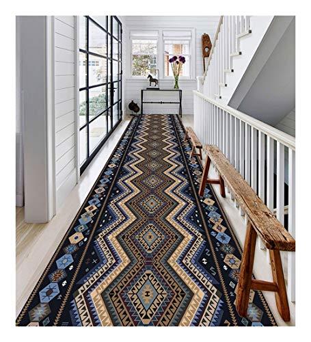 XIAWU Vintage Teppich Gang Eingang Geeignet for Wohn- Und Schlafzimmer rutschfest (Color : A, Size : 90x300cm)