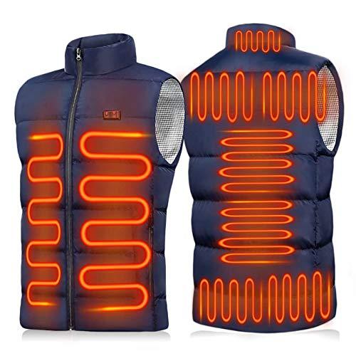 Yeah-hhi 9 zonas de calefacción eléctrica chaleco de calor para hombres y...