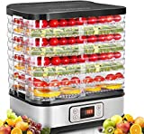 COOCHEER Dörrautomat Dehydrator Dörrapparat mit Temperaturregelung, 8 Etagen abnehmbare Dörrgerät, Temperaturregelung 35-70℃ für Fleisch, Fleisch, Früchte, Gemüse & Nüsse, 400W, BPA-frei